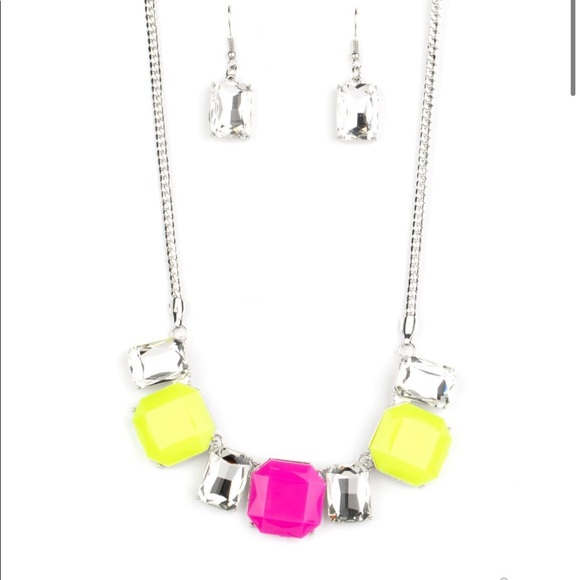 J20 Yellow & Pink Necklace